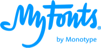 MyFonts logo blue new
