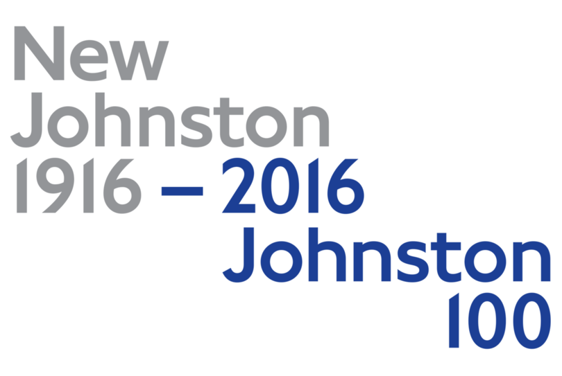 Johnston 100 captures the essence of London while updating the font for modern use.