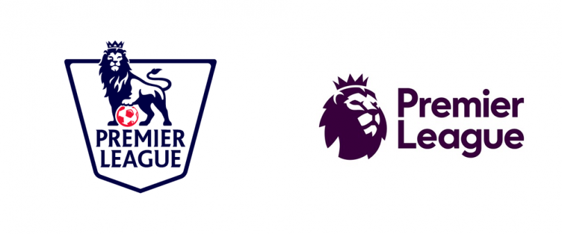 Premier League logo before and after