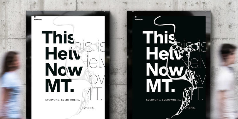 Helvetica Now posters