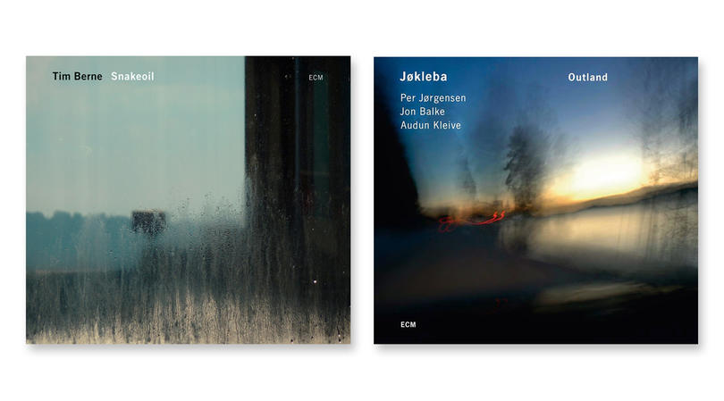 ECM records album covers, featuring the typeface Univers.