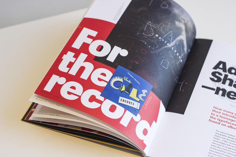 Adrian Shaughnessy has written about typography and record sleeves for issue 4 of The Recorder.