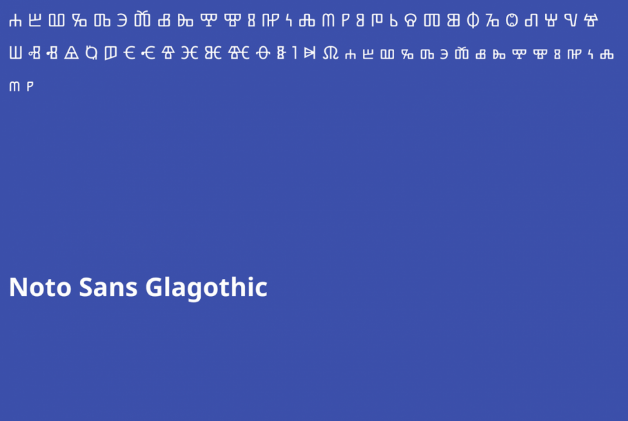 The Glagothic writing system